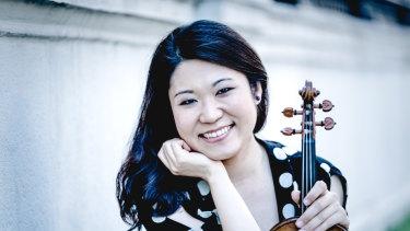 Violin soloist Tianwa Yang.