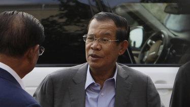 Cambodian Prime Minister Hun Sen.