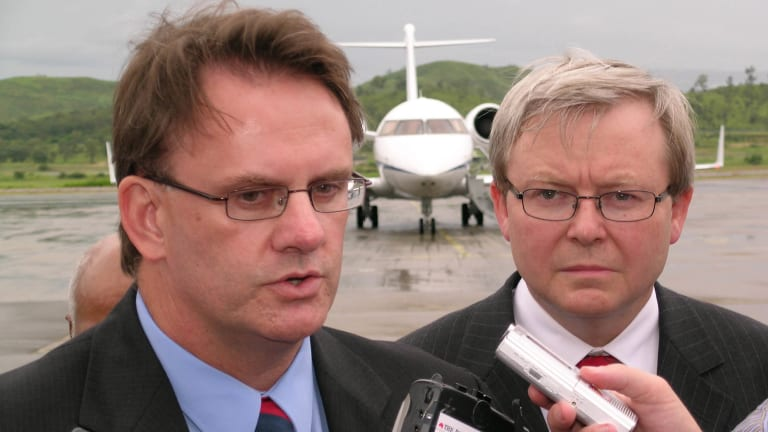 With then-opposition leader Mark Latham.
