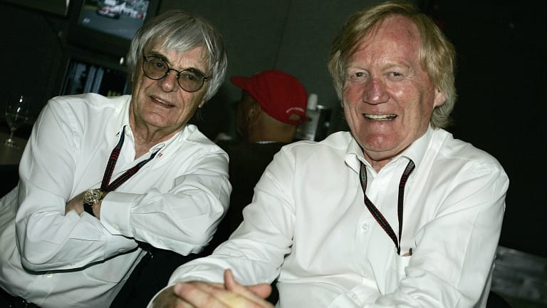 Bernie Ecclestone and Ron Walker in 2007.