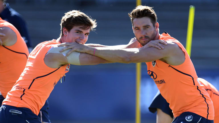 Paddy Dow (left) will debut for the Blues.