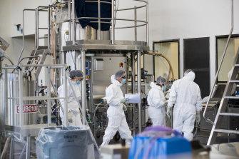 CSL's AstraZeneca lab in Melbourne.