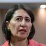 Premier Gladys Berejiklian is keen to highlight figures which show the state's low unemployment rates.