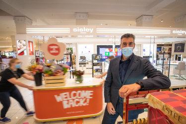 David Jones CEO Scott Fyfe in the Melbourne store on the eve of reopening.