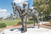 A Memorial to the Australian Light Horse, the troopers and their Waler horses, most famously used in the Light Horse  Charge at Beersheba in 1917.