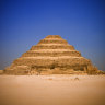 The first pyramid, built 4700 years ago in Saqqara.