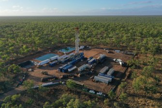 """The Beetaloo basin, which lies 600km south of Darwin, has the """"potential to rival the world's biggest and best gas resources,"""" according to the federal government."""