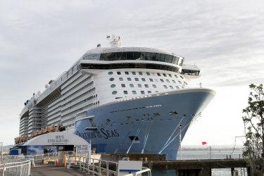 The Ovation of the Seas in Tauranga, New Zealand,