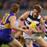 As it happened: West Coast Eagles score gutsy comeback win against Geelong Cats, St Kilda Saints blitz Sydney Swans, North Melbourne Kangaroos smash Adelaide Crows