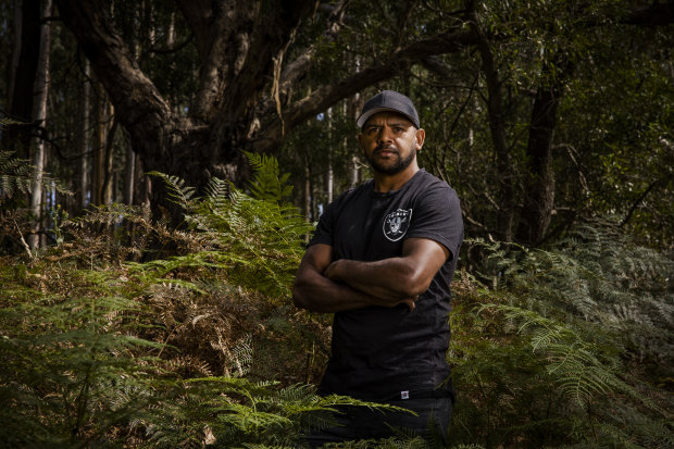 """Leon Davis needed to put emotional """"armour"""" on to protect himself at times at Collingwood."""