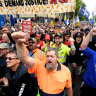 Thousands attend ACTU rally in Melbourne and Sydney to fight against low pay