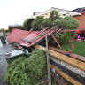 Homes left uninhabitable, one woman injured after storms batter Victoria