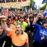 Melbourne union rally crowd expected to be 15 times bigger than Sydney. Why?