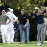 Rivals lessen gap to Johnson at Masters