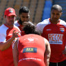 Clouded nine: Folau's long absence from league behind Tonga snub
