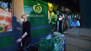 Some Woolworths customers will be able to book a shopping time slot online to avoid waiting outside.