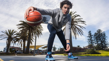 Emerging Australian basketball star Josh Giddey.