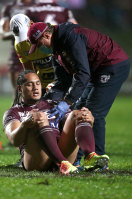 Marty Taupau was flattened by Jack Hetherington on Friday night.