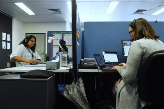 Teachers at the Aurora main office in Lane Cove North conduct virtual classes simultaneously.