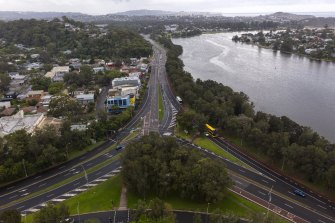 Barely a car in sight at the usually busy intersection of Wakehurst Parkway and Pittwater Road.