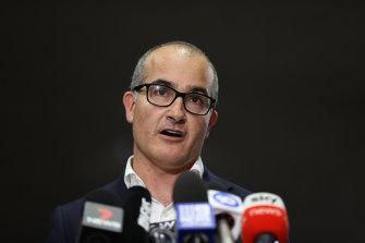 Acting Premier James Merlino announces the seven-day lockdown on Thursday.