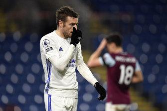 Leicester striker Jamie Vardy.