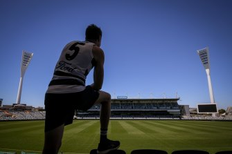 Jeremy Cameron will finally make his Geelong debut on Saturday.