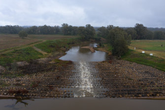 A fishway near Dubbo on the Macquarie River. The NSW government is banking on the Murray Darling Basin Authority to sign off on new water resource plans  for a range of rivers.