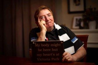 Lifelong Pies supporter Paul Morgan.