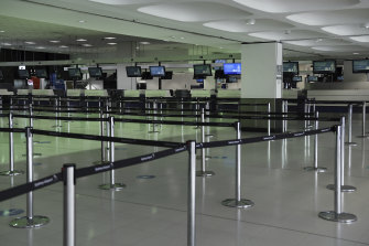 Bad for business: airports were empty for much of 2020, as travel restrictions curbed flights.