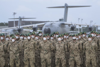 German soldiers lined up for their final roll call in Wunstorf, Germany, after returning from Afghanistan last week.