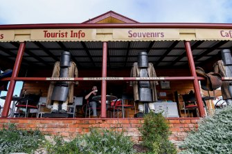 A souvenir shop in Glenrowan trading on the Ned Kelly theme.