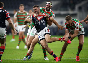James Tedesco in action earlier this year.