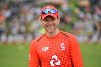 Eoin Morgan pictured at the third T20I match between South Africa and England in February.