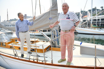 Sir James Hardy and Gordon Ingate will both contest this weekend's Classic Sydney Hobart Yachts Regatta.