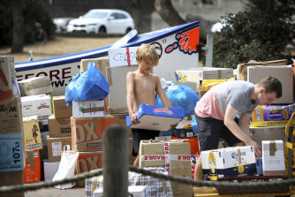 Donations have been dropped off at Bondi SLSC since Saturday.