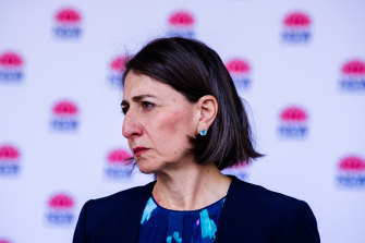Premier Gladys Berejiklian has criticised other states for quickly closing their borders.