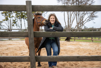 """Business consultant and leadership coach Vicki Macdermid, who uses horses in her leadership training work, describes this lockdown even after a little over a week as """"depleting – and I'm by nature a very optimistic person""""."""
