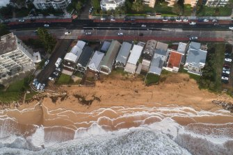 Coastal erosion at Collaroy-Narrabeen, as seen on Friday.
