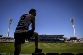 Jeremy Cameron will wear the No.5 for Geelong.