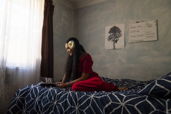 Year 12 Cabramatta High student Maria Samueluu at her Minto home.