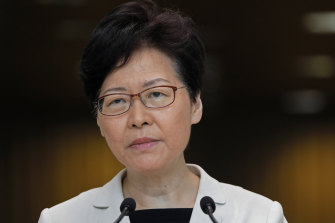 "Hong Kong chief executive Carrie Lam says her government is ""not accepting the demands"" of violent protesters."
