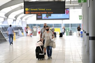 A public health alert was issued on Tuesday for 10 new sites of varying risk at Brisbane's domestic airport.