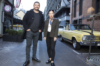Fast, food: Snackmasters co-hosts Scott Pickett and Poh Ling Yeow.