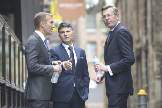 The Premier's senior ministers are backing: Rob Stokes (left), Victor Dominello and Treasurer Dominic Perrottet.