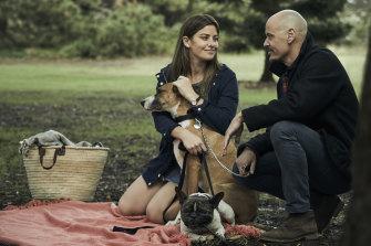 Brooke Satchwell and Scott Ryan in Mr Inbetween.