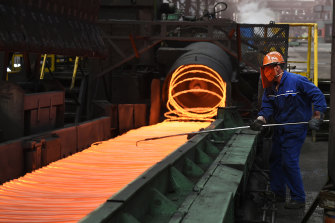 China is limiting its steel production, dragging down the price of iron ore to its lowest level in seven months.