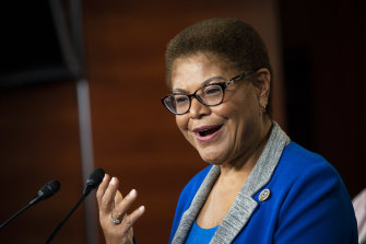 Trump target: Representative Karen Bass, a Democrat from California and chair of the Democratic Black Caucus.