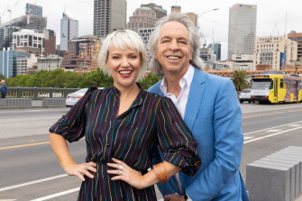Jacinta Parsons and Brian Nankervis, hosts of the Friday Revue.
