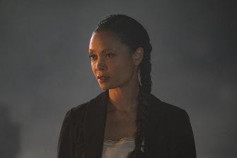 "Thandiwe ""Thandie"" Newton in season two of Westworld."